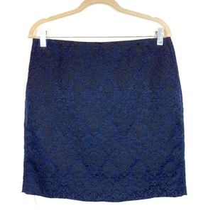 Banana Republic Navy Embroidered Mini Skirt Size 8